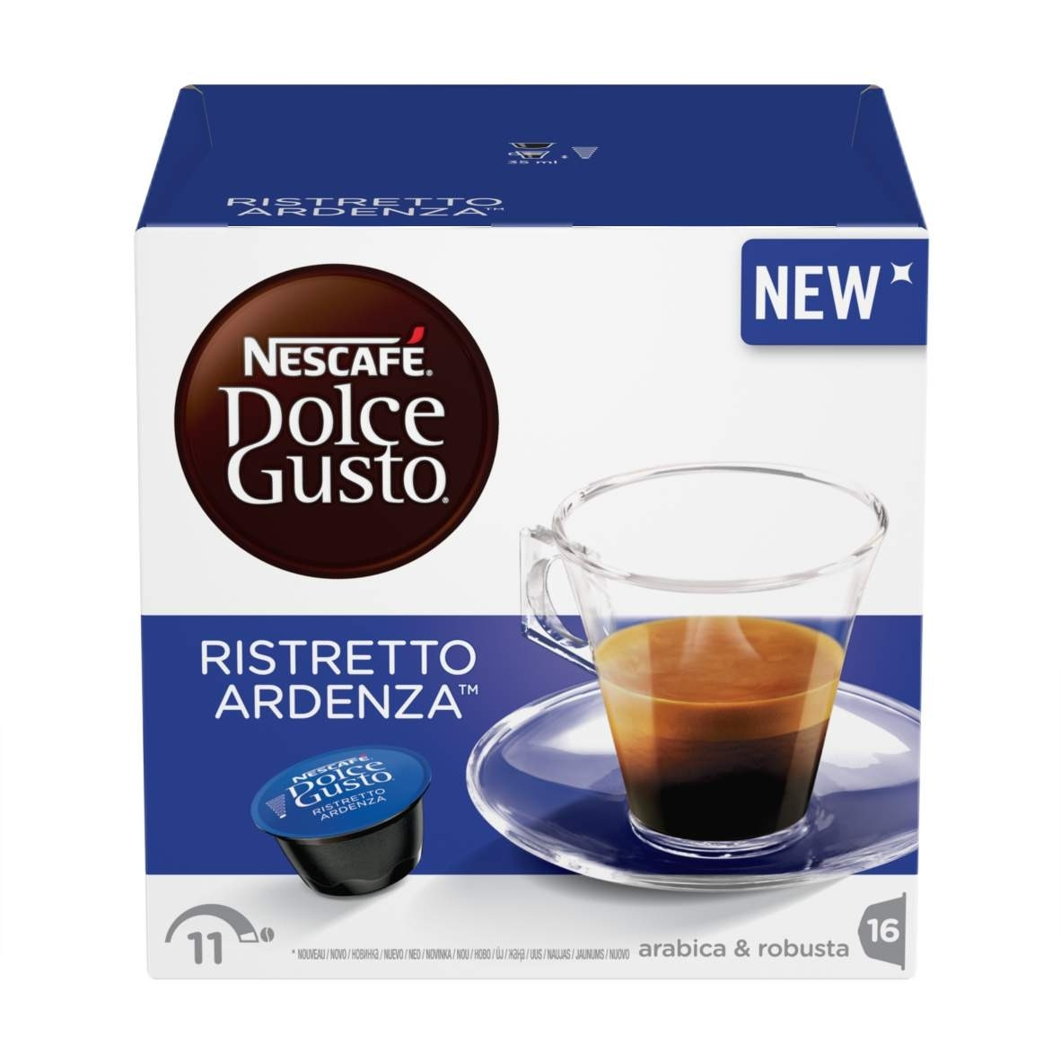 ristretto ardenza coffee capsules nescaf dolce gusto. Black Bedroom Furniture Sets. Home Design Ideas