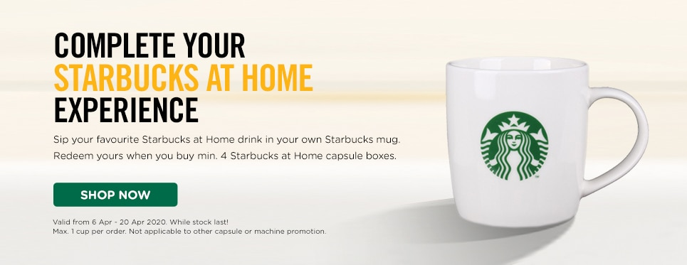 Buy 4 SBUX capsule and redeem a sbux mug