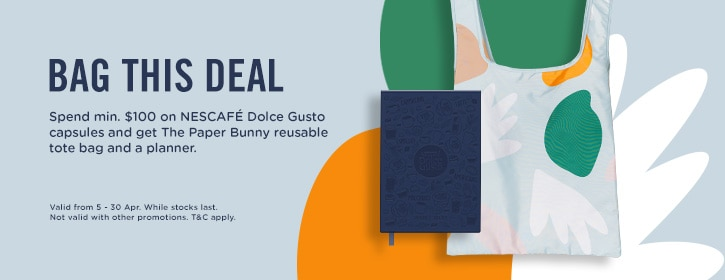 spend $100 get bunny bag & planner
