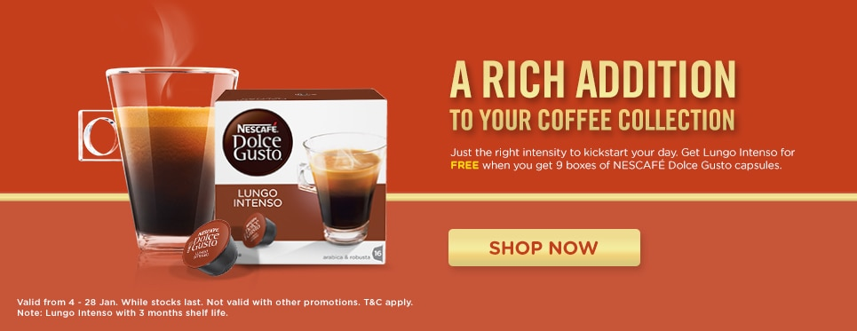 buy 9 boxes get lungo intenso