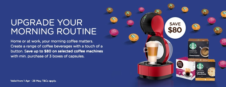 buy 3 boxes capsule & save up to $80 of selected machines