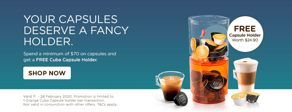 min spend $70 get orange capsule holder