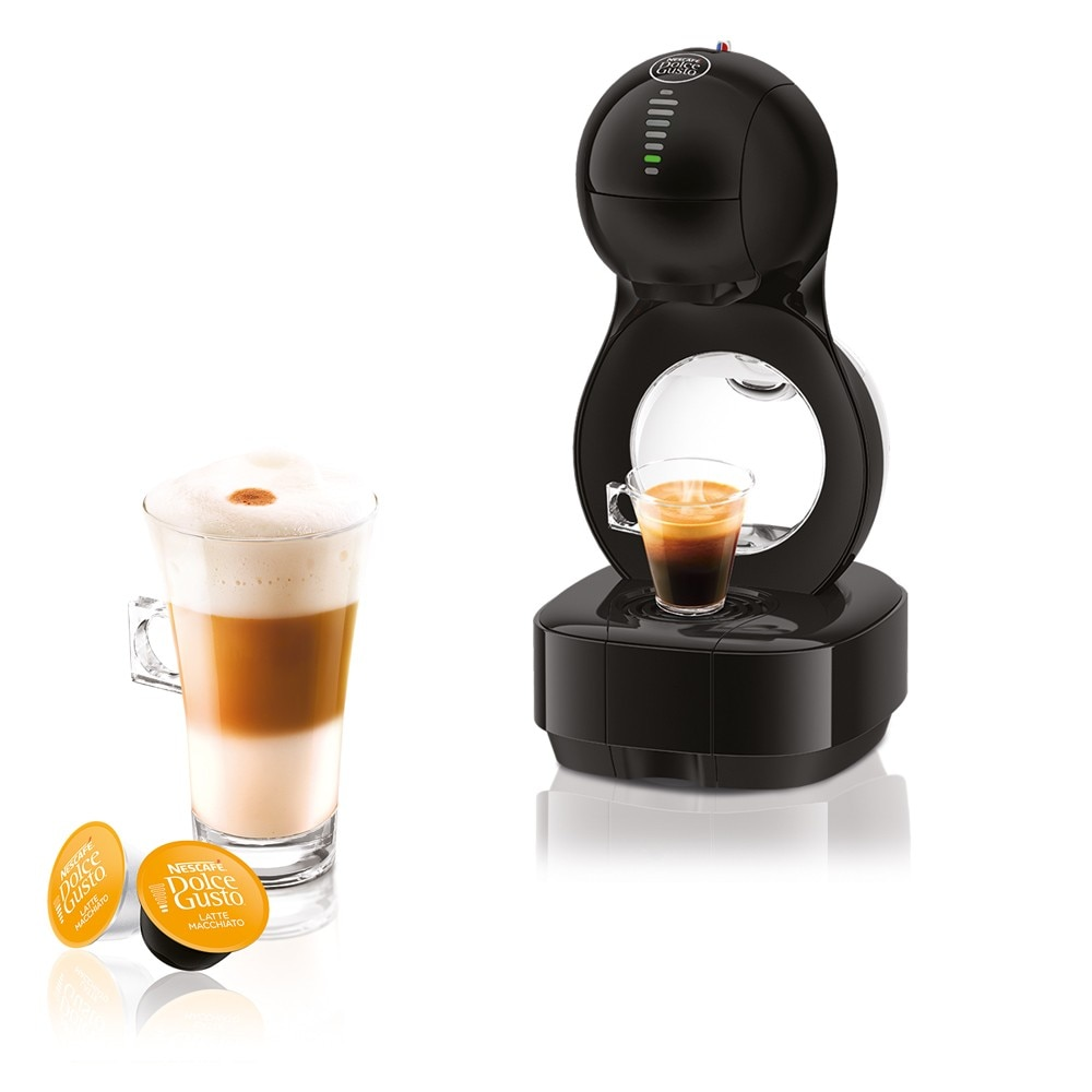 lumio black automatic machine nescaf dolce gusto. Black Bedroom Furniture Sets. Home Design Ideas