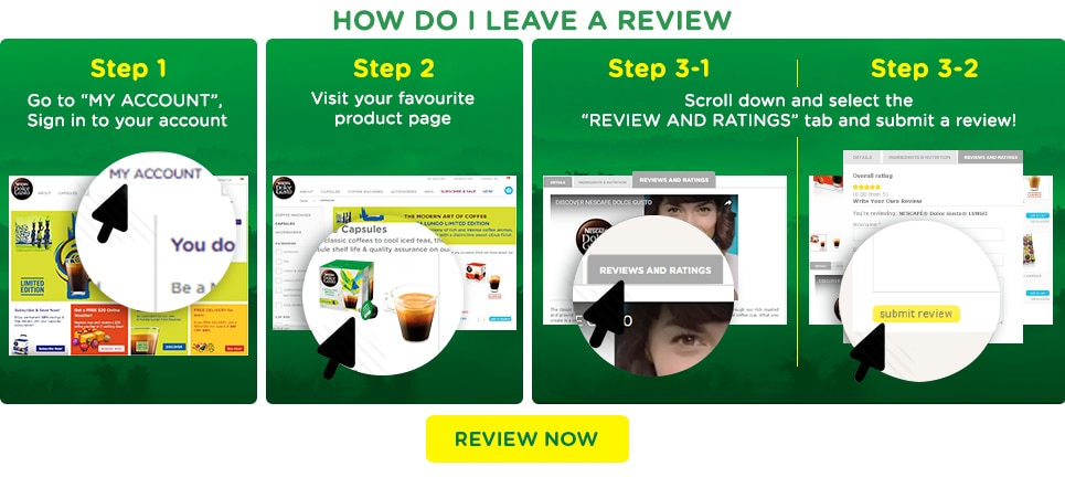Steps to leave a review