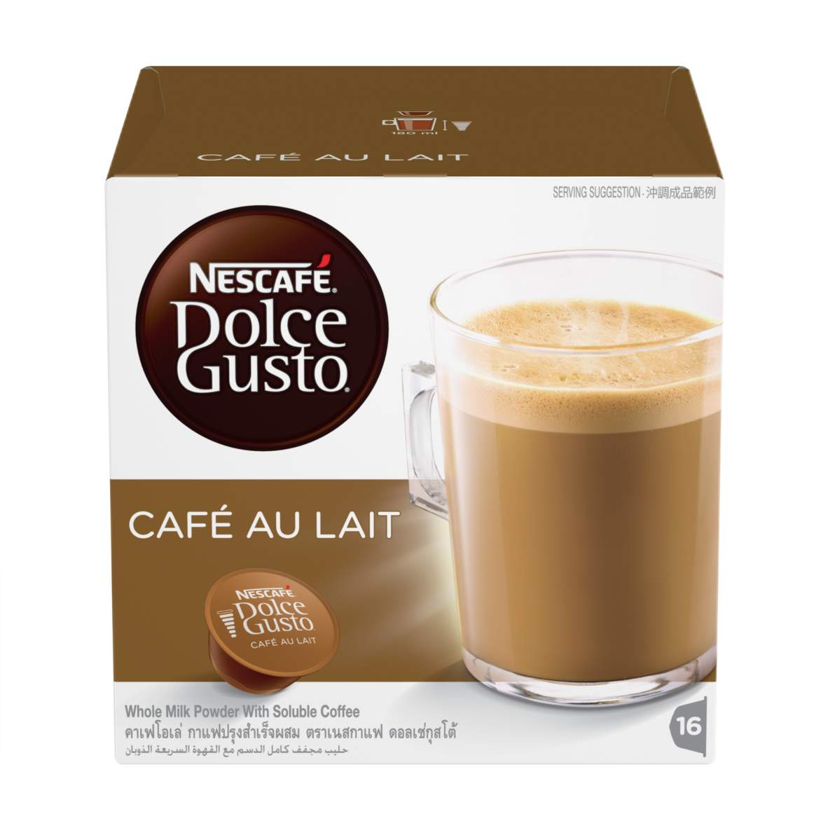 buy caf au lait capsules nescaf dolce gusto. Black Bedroom Furniture Sets. Home Design Ideas