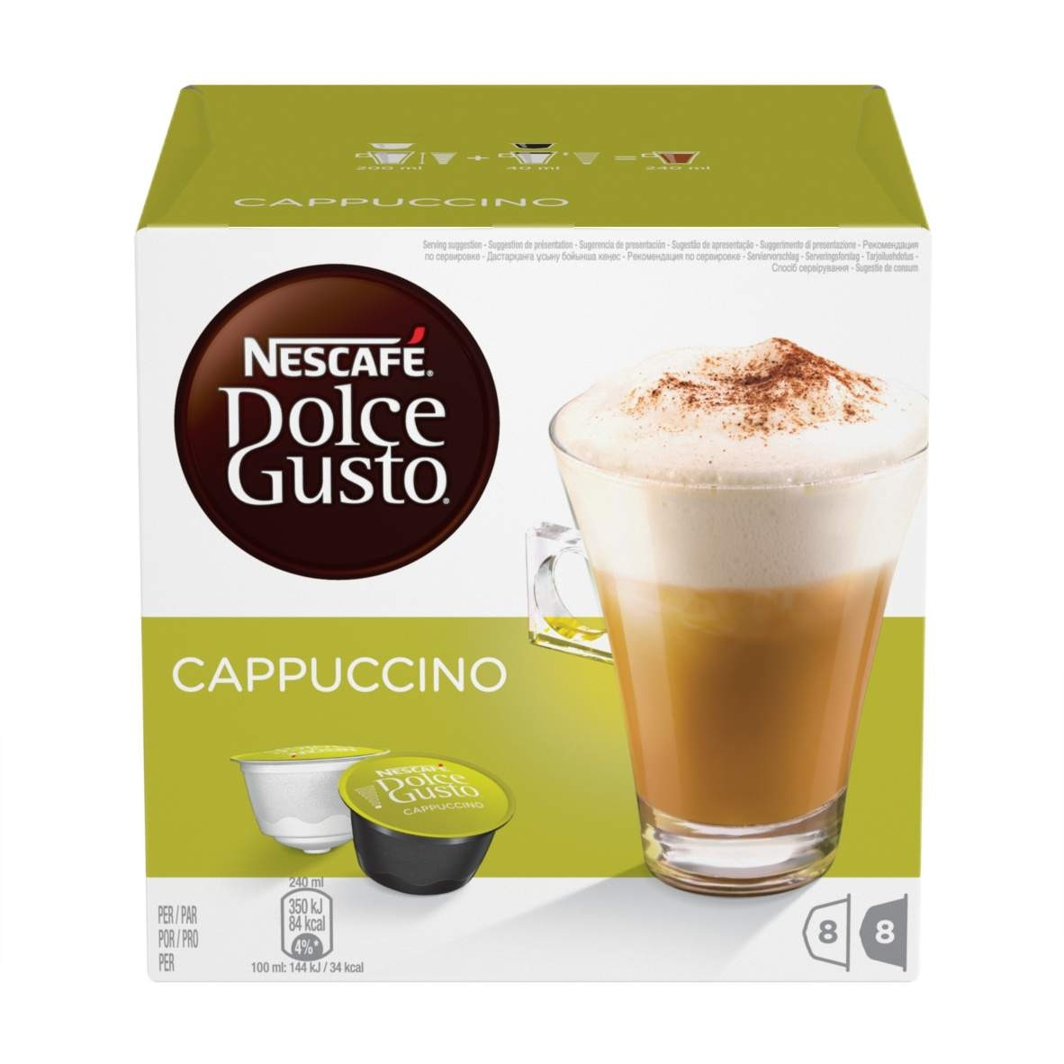 buy cappuccino capsules nescaf dolce gusto. Black Bedroom Furniture Sets. Home Design Ideas